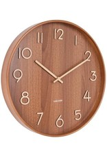 Karlsson Wall Clock Pure - Medium - Dark Wood