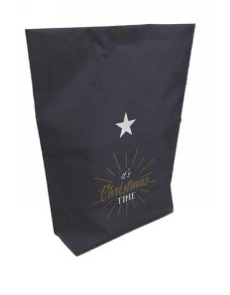Bijzonder Design Store Cadeauzak met knijper - It's Christmas Time