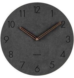 Karlsson Wall Clock Dura - Korean Wood - Black