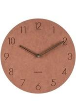 Karlsson Wall Clock Dura - Korean Wood - Brown