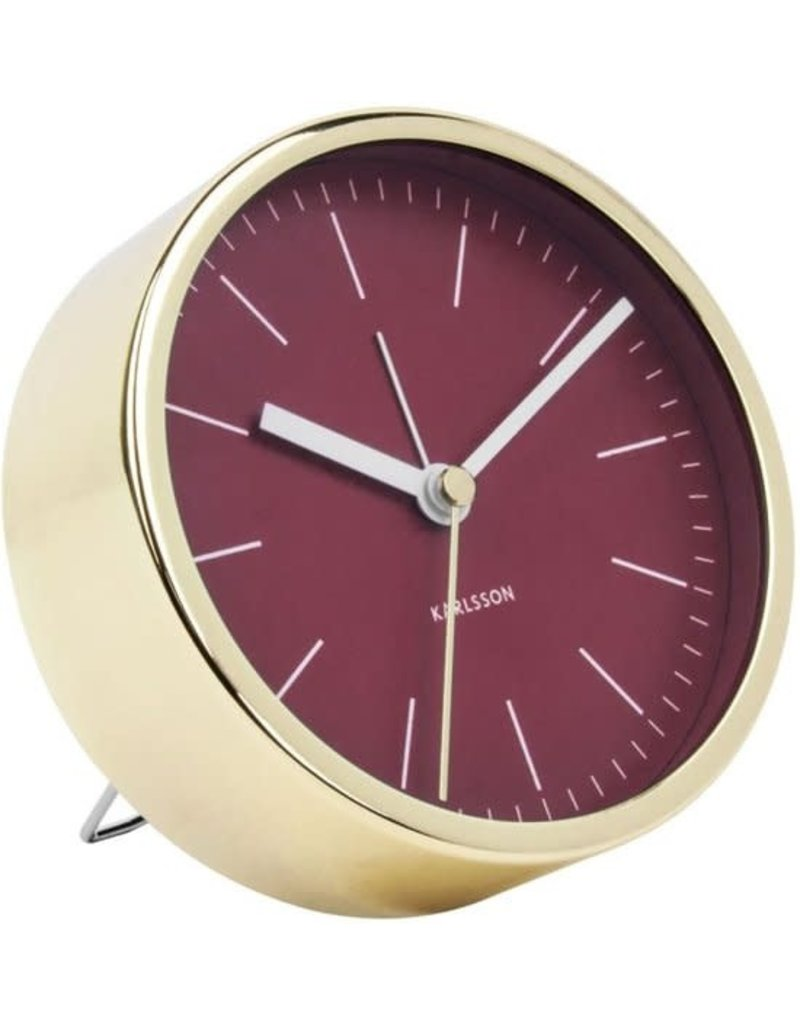 Karlsson Alarm Clock / Wekker - Minimal - Red