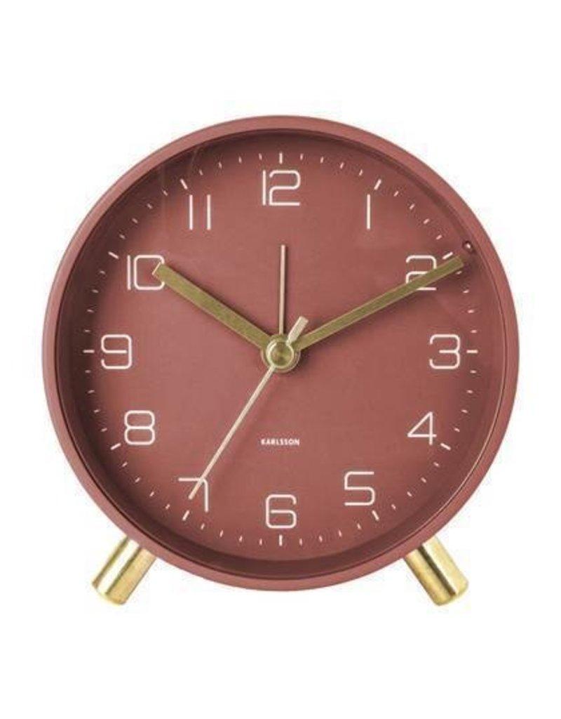 Karlsson Alarm Clock / Wekker - Lofty - Metal Red