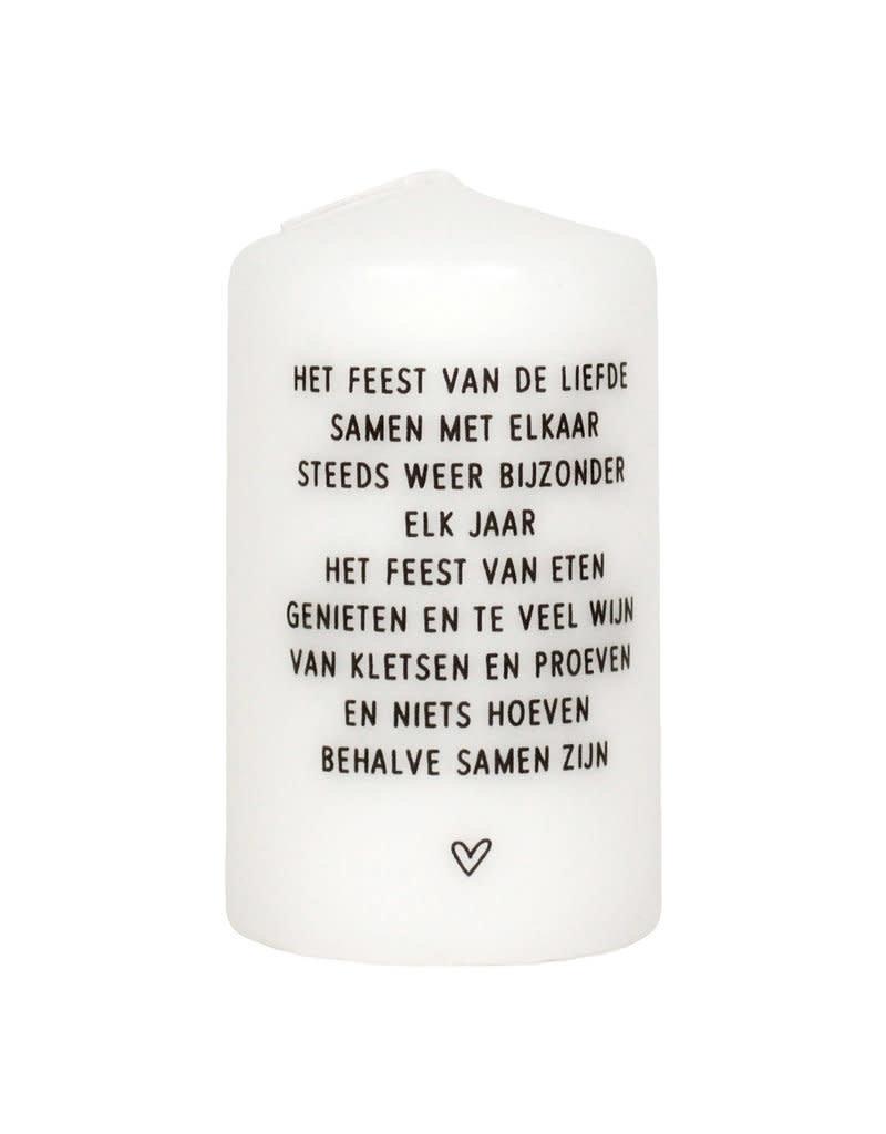 Uitgelezene Zoedt Kaars met gedicht 'Het feest van de liefde..' - Bijzonder TJ-65