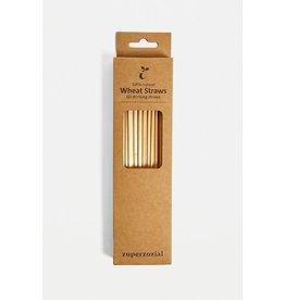 ZuperZozial Strohalm Rietjes / Wheat Straws  - 60 stuks 100% afbreekbaar