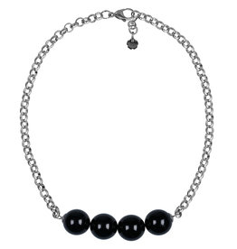 Pimps and Pearls Necklace Rough Gotcha 00 Black Agate