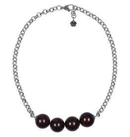 Pimps and Pearls Necklace Rough Gotcha 02 Red Brown Jaspis
