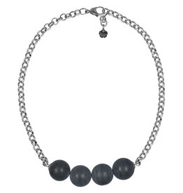 Pimps and Pearls Necklace Rough Gotcha 03 Grey Frosted