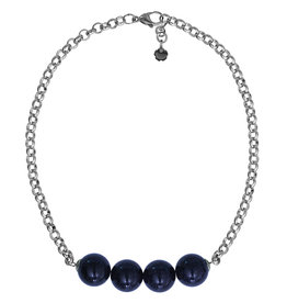 Pimps and Pearls Necklace Rough Gotcha 04 Blue Gold Stone