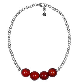 Pimps and Pearls Necklace Rough Gotcha 05 Bamboo Coral