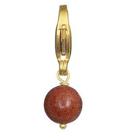 Pimps and Pearls Moesss2Be Rocks 60 Goldstone Orange
