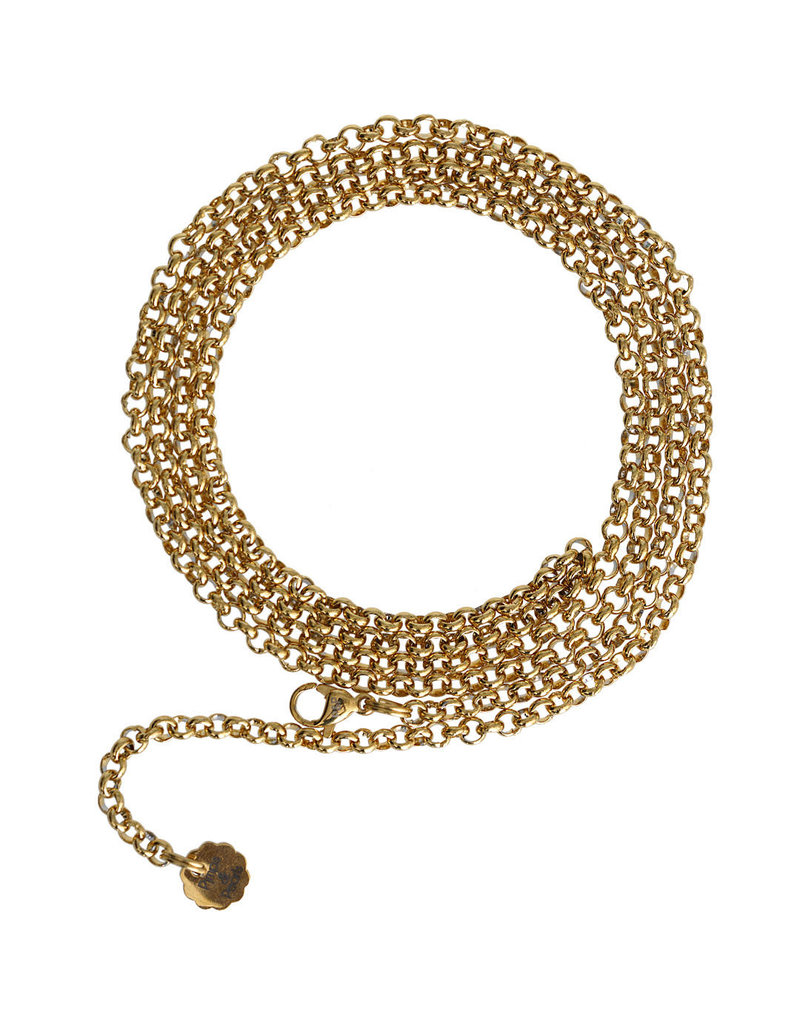 Pimps and Pearls Jasseron Edelstaal Fine Gold Plated