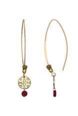 Pimps and Pearls Ear Fashion 14 Paradise Red Gold