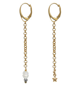 Pimps and Pearls Ear Fashion 22 Stars Pearl Gold