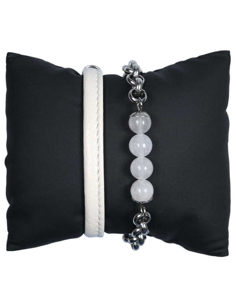 Pimps and Pearls Bracelets Two Stories 07 White Milky Jade