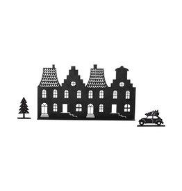Zoedt Grachtenpandjes Kerst - met auto en kerstboom