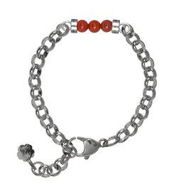 Pimps and Pearls Bracelet Jasseron Silver Gems Pretty 35 Chalcedone
