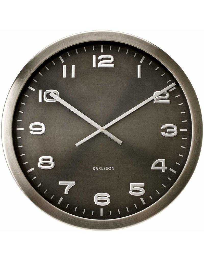 Karlsson Wall Clock Maxie Grey Steel - 50cm