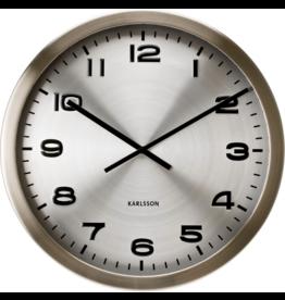 Karlsson Wall Clock Maxie Silver Steel - 50cm