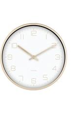 Karlsson Wall Clock Gold Elegance White 30cm