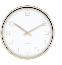 Karlsson Wall Clock Gold Elegance White 30cm