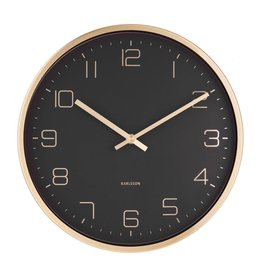 Karlsson Wall Clock Gold Elegance Black 30cm