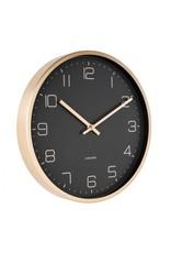 Karlsson Wall Clock Gold Elegance Black 30cm