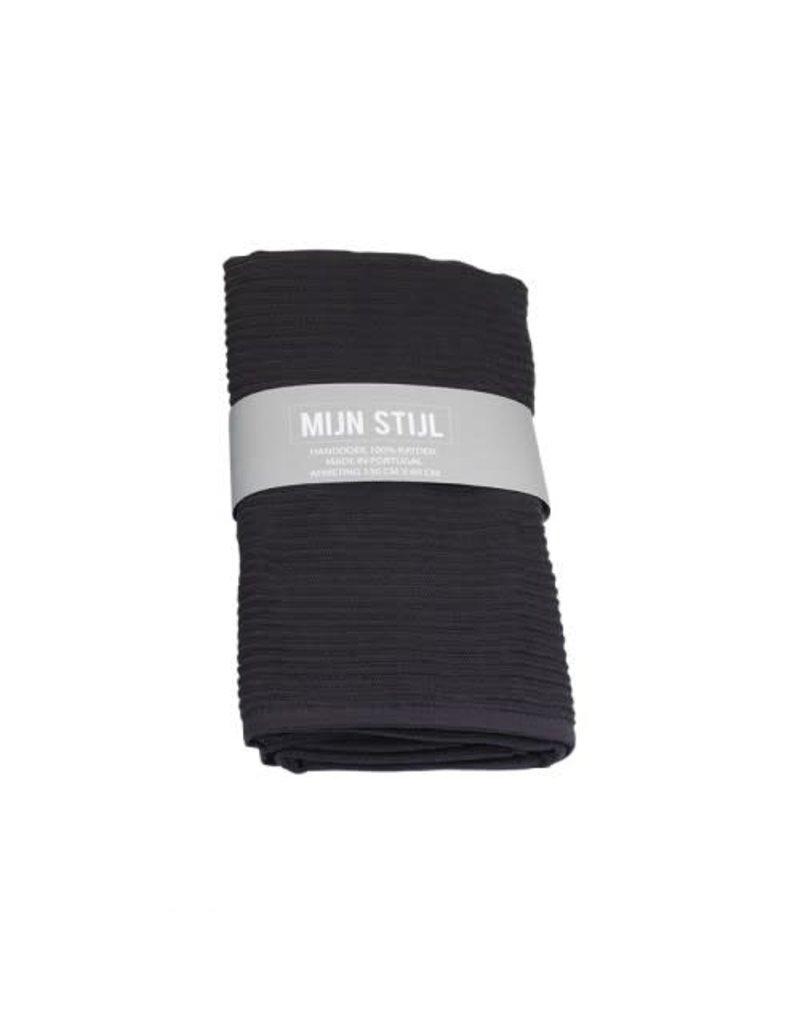 Mijn Stijl Handdoek donker grijs 130 x 60 cm