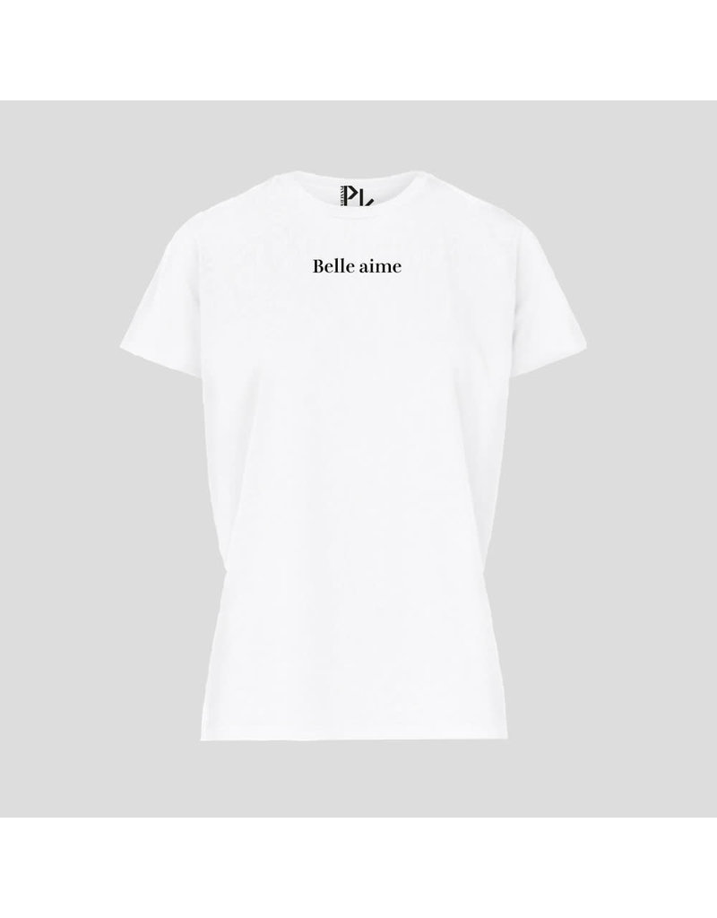PiNNED by K T-Shirt Belle Aime - Wit
