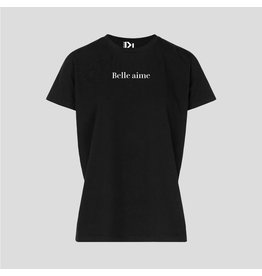 PiNNED by K T-Shirt Belle Aime - Zwart