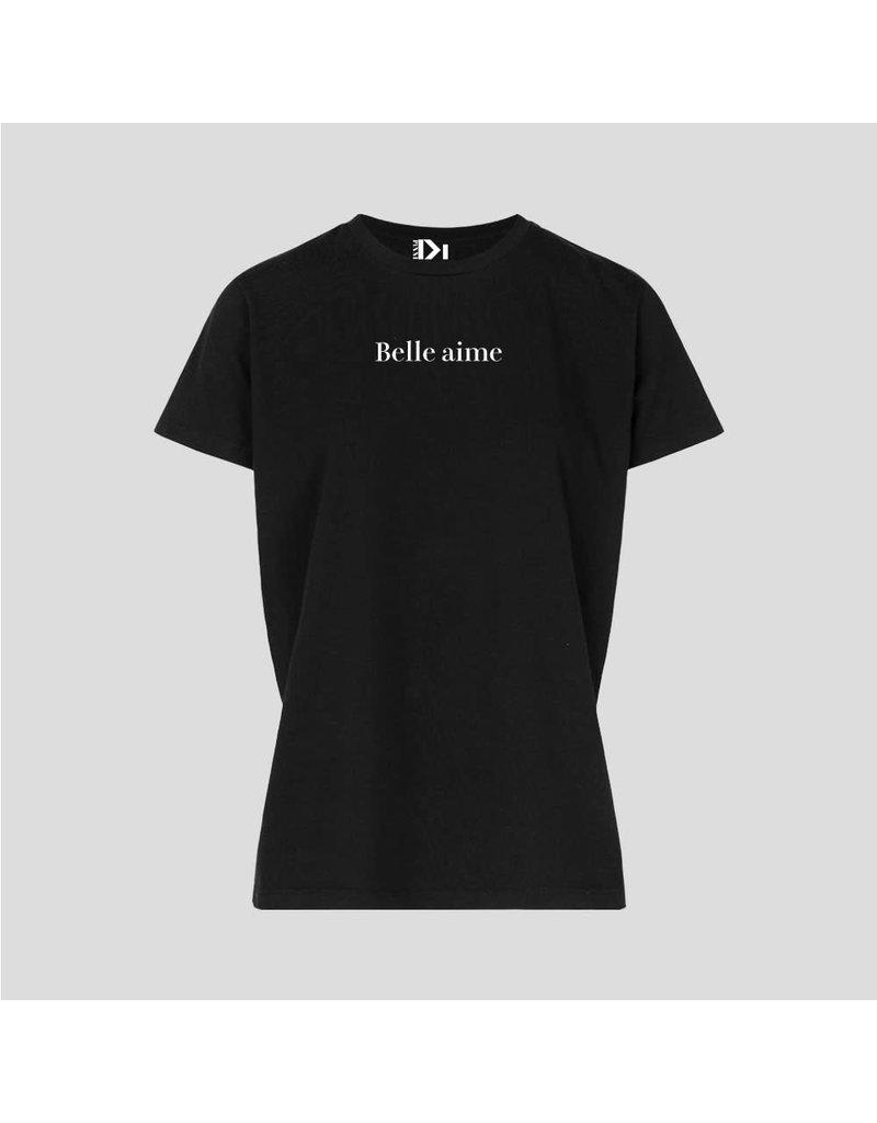 PiNNED by K T-Shirt Belle Aime - Zwart