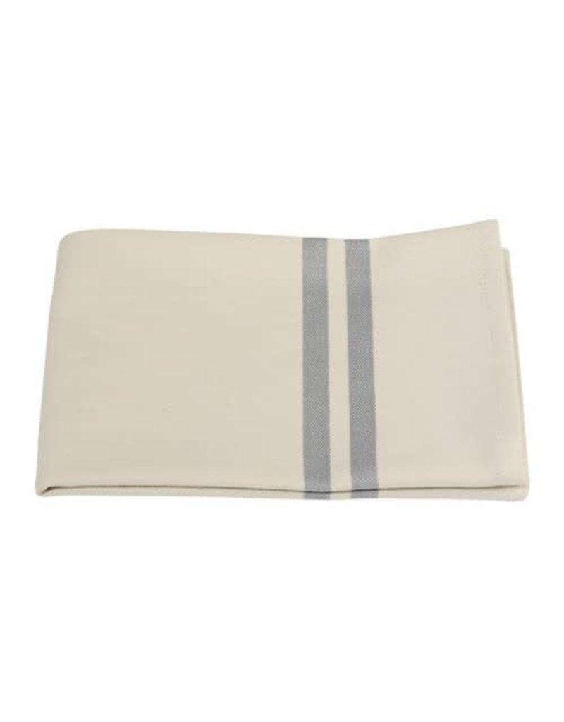 Mijn Stijl Theedoek katoen Ecru-Licht Grijs/Blauw - 67x50 cm