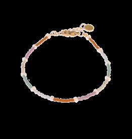 Label Kiki Round Bracelet Rainbow Pearl Gold