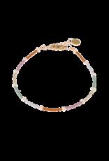 Label Kiki Round Bracelet Rainbow Pearl Silver