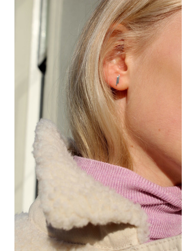 Label Kiki Double Bar Earring Silver