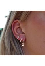 Label Kiki Double Shiny Bar Earring Silver