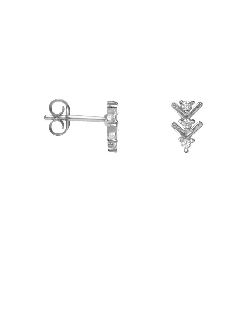 Label Kiki Shiny Arrow Earring Silver