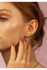 Label Kiki Shield Round Earring Silver