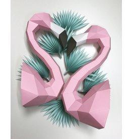 Assembli Papieren Dierenkoppen - Flamingo -