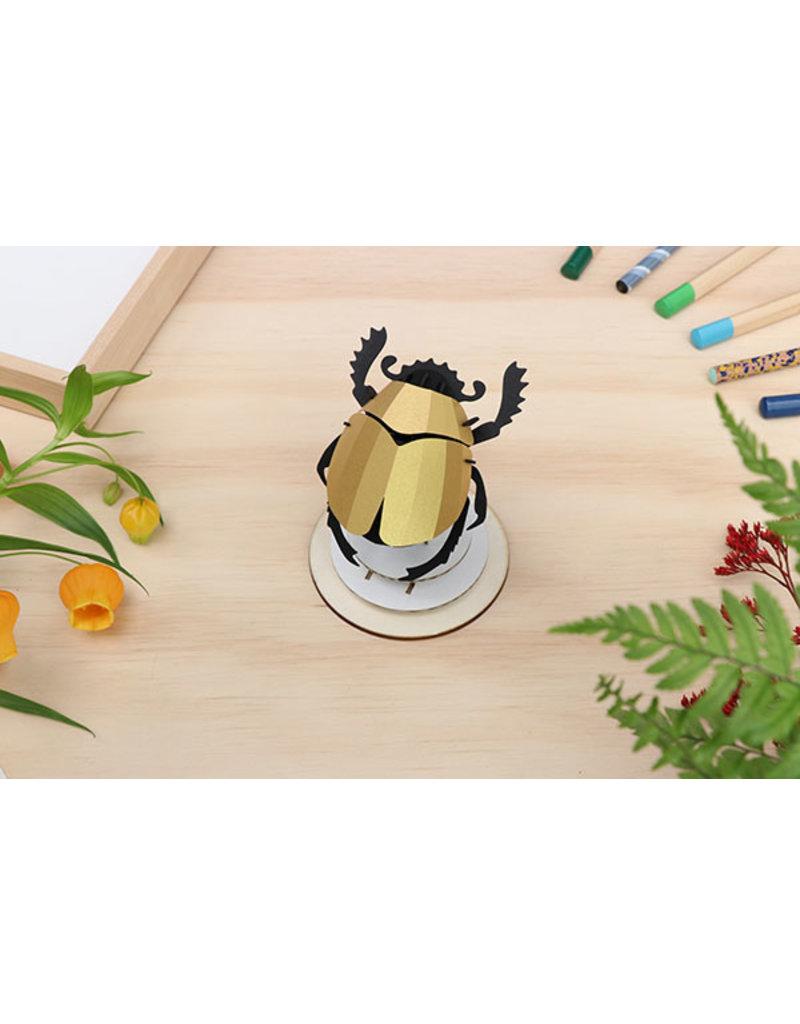 Assembli Papieren 3D Insecten - Scarab Kever -
