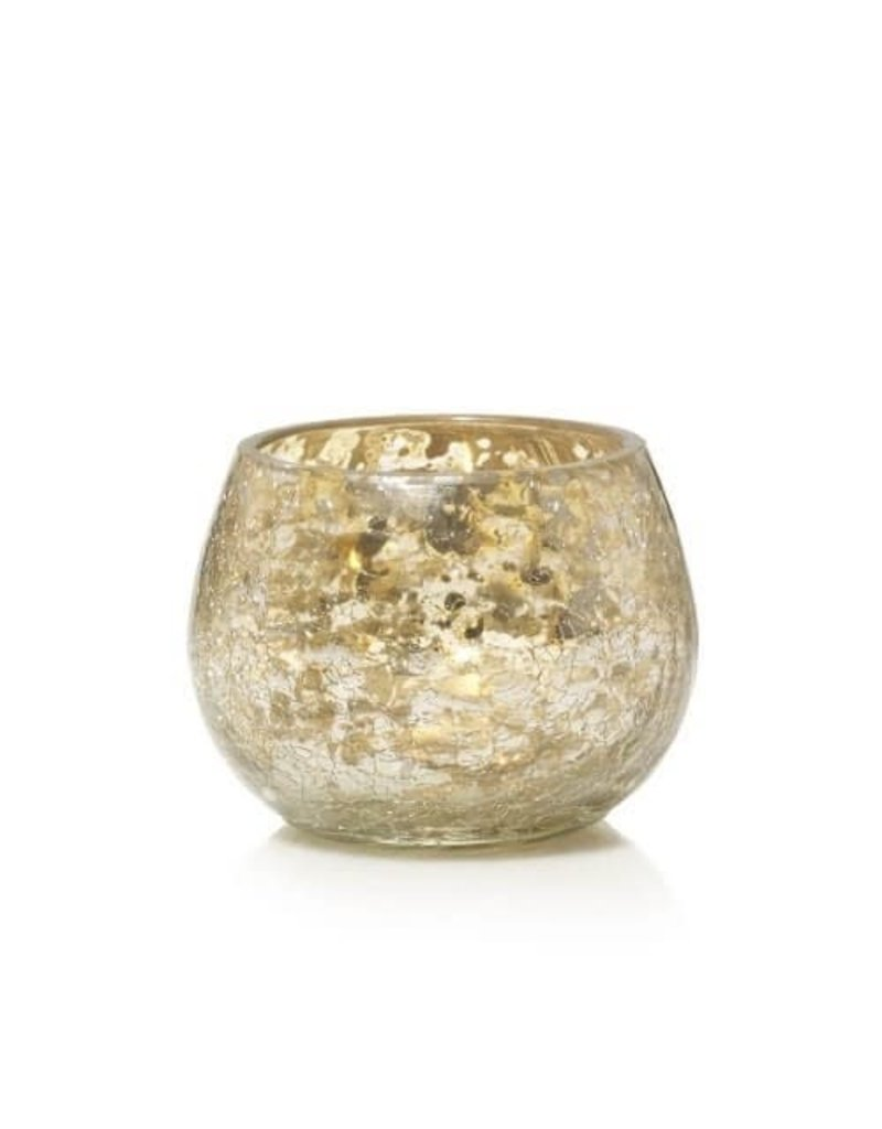 Yankee Candle Kensington Votive Holder Mercury on Crackle Glass