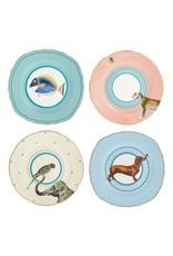 Yvonne Ellen Gebaksborden Set van 4 (dog, fish, elephant, cheetah) 16cm