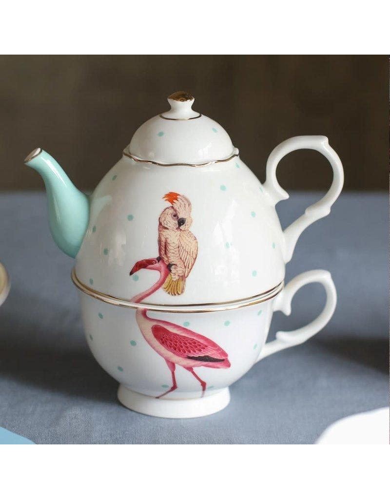 Yvonne Ellen Tea for One - Flamingo