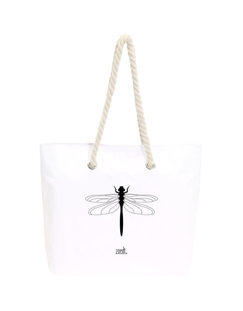 Zoedt Strand- en boodschappen tas met Libelle