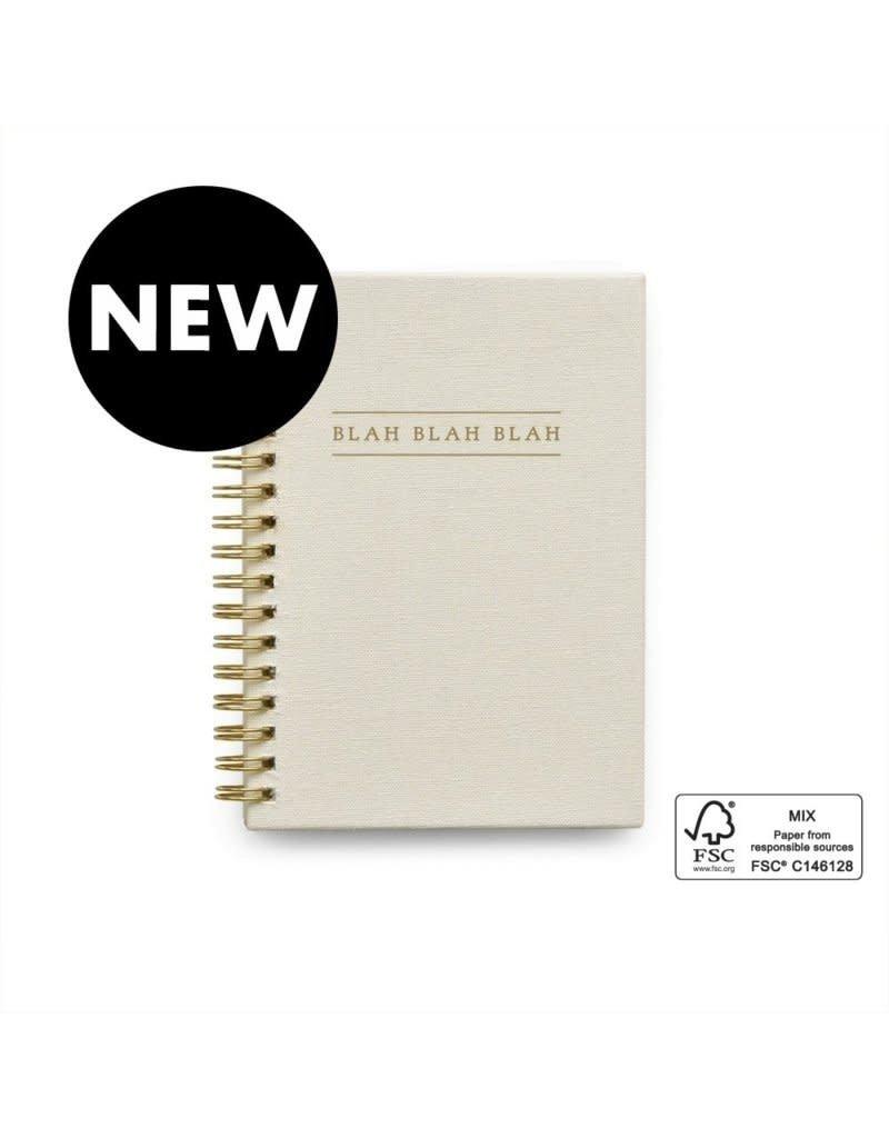 House of Products Blah blah blah Kids Quotes Notitieboekje - Universal - Ivoor-Linnen