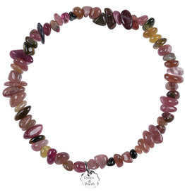 Pimps and Pearls Birthstone Bracelet Rocks 10 Rose Tourmaline