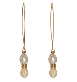 Pimps and Pearls Ear Fashion 39 Lys Pearl Gold