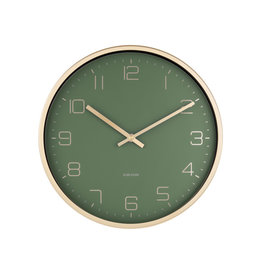 Karlsson Wall Clock Gold Elegance Green 30cm