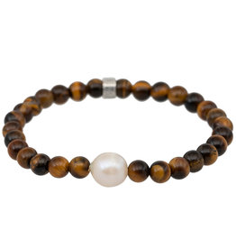 Pimps and Pearls Mala Bracelet Pearl 17 Tiger Eye