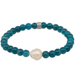 Pimps and Pearls Mala Bracelet Pearl 20 Apatite