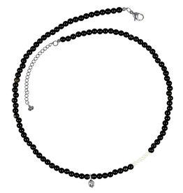 Pimps and Pearls Mya Mala Short Necklace 01 Black Onyx